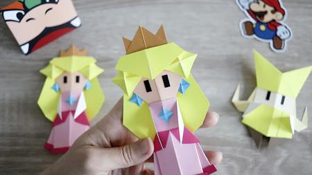 Así puedes hacer tu propia Princesa Peach Origami y una corona a tamaño real como en Paper Mario: The Origami King