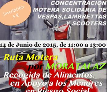 14 de junio, Iª Concentración Motera Solidaria: Comparte Moratalaz
