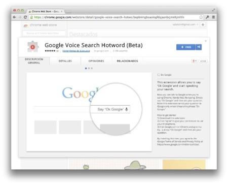 Google Voice Search llega a OS X a través de Google Chrome