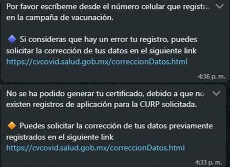 Mensajes De Error Whatsapp Certificado