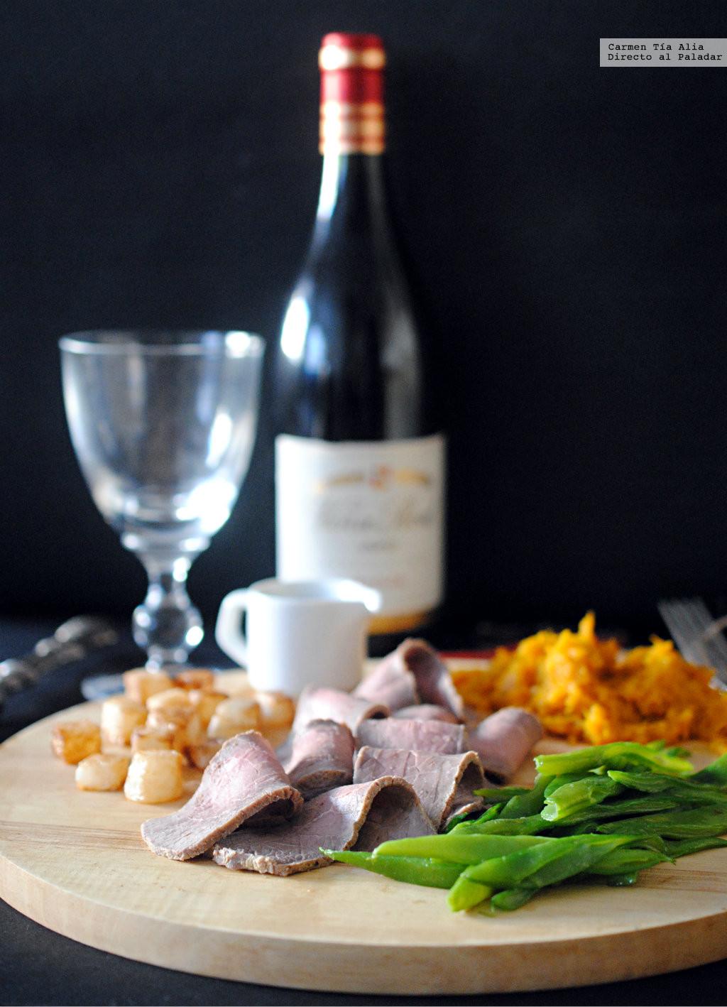 Ternera asada a la mostaza, receta de cocina fácil, sencilla y deliciosa