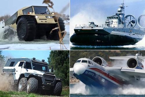 Locura rusa, nivel: siete vehículos anfibios reales dignos de un archienemigo de 007