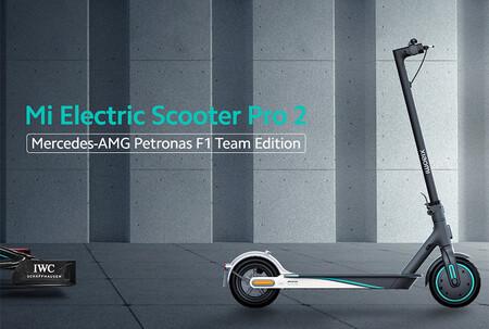 El patinete eléctrico de Xiaomi con la librea del equipo Mercedes de Fórmula 1 sale a la venta por 800 euros