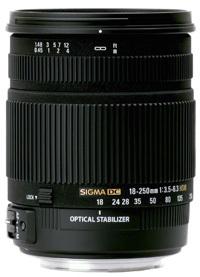 Nuevo objetivo ultrazoom 18-250 mm. de Sigma