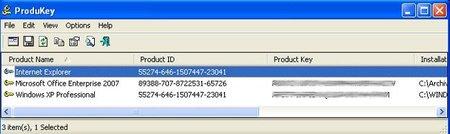 ProduKey, recupera todos los seriales de los productos Microsoft