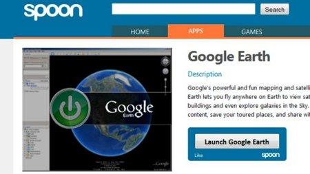 Lanzando Google Earth desde Spoon