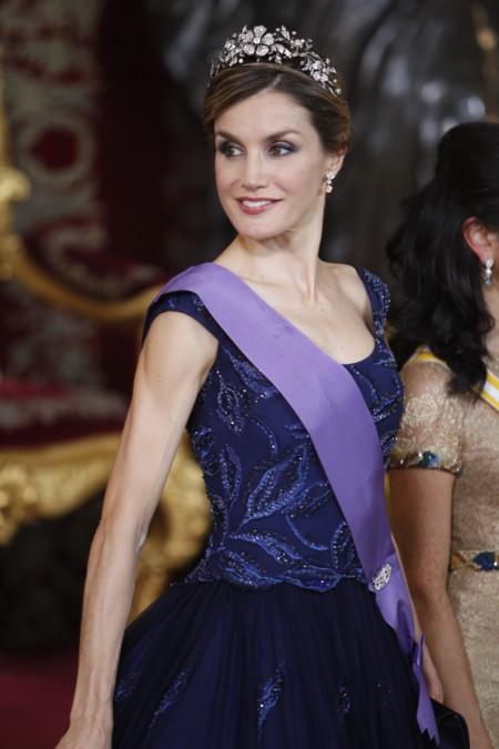 Doña Letizia más Reina que nunca en la cena de gala en honor al Presidente de Perú