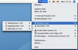 RSS Menu, los feeds en la barra de sistema de tu mac