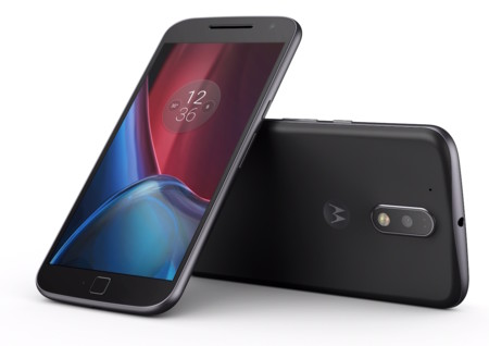 Motog4plus Black Front Back