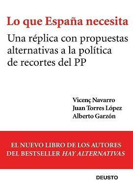 Lo que España necesita, un libro que no acompaña al título