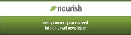 Nourish, convierte los contenidos de los canales rss en boletines de e-mail