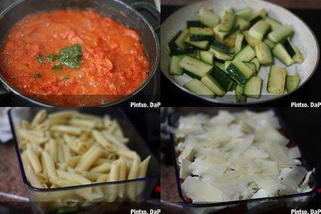 Receta de pasta con parmesana de calabacines. Pasos