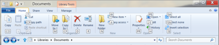 Atajos de teclado en la Ribbon de Windows 8