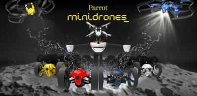 El agua y la oscuridad ya no serán obstáculos para la nueva alineación de drones de Parrot