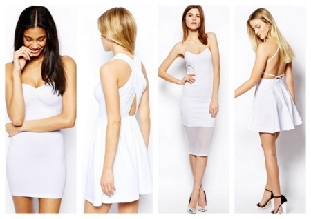 Asos vestidos blancos baratos