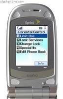 Sprint PCS Vision Phone SCP-2400, con control parental