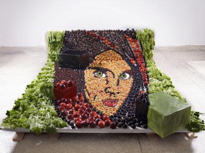 La artista Jolita Vaitkute crea cuadros que se pueden comer