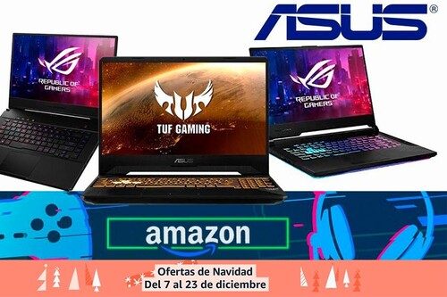 8 portátiles gaming ASUS más baratos en las ofertas de Navidad de Amazon