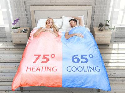 Ha llegado el edredón inteligente (para solucionar el drama de dormir en pareja y morir de calor o de frío)