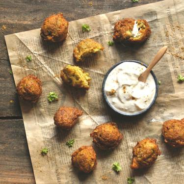 Pakoras indias de brócoli, calabacín y cebolla, receta con Magimix Cook Expert (y también de forma tradicional)