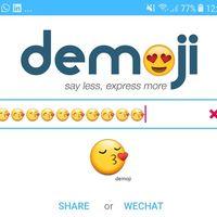 Demoji nos permite darle vida a los emojis creando gifs con todo tipo de combinaciones
