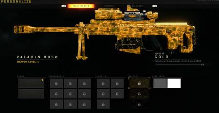 Black Ops 4 Camuflaje Oro