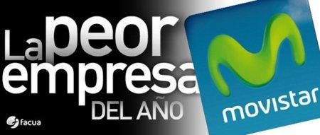 Movistar es elegida de nuevo como la peor empresa del año, según han votado los usuarios en FACUA