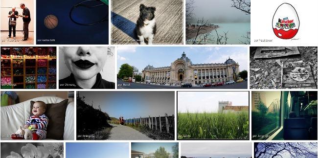 Vista justificada de Flickr