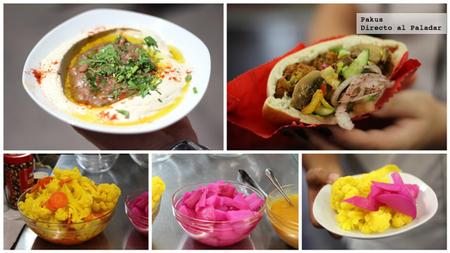 hummus y falafel en israel