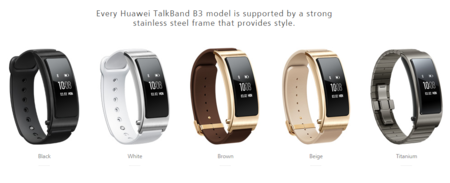 Estilos de la Huawei Talkband B3