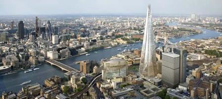 El Shard, el edificio más alto de la Unión Europea se inaugura hoy en Londres