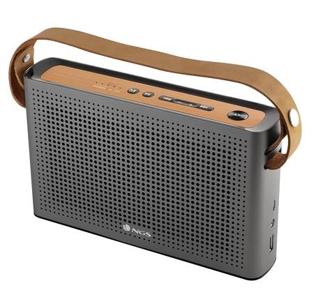 Altavoz Bluetooth NGS Roller Byron, con Radio FM y 20W de potencia, por 29,99 euros