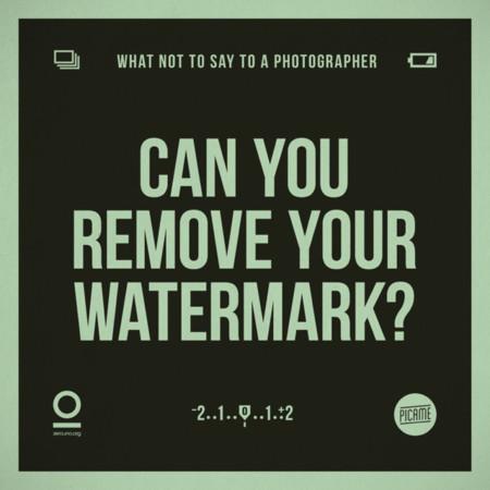 ¿Puedes quitar tu marca de agua?