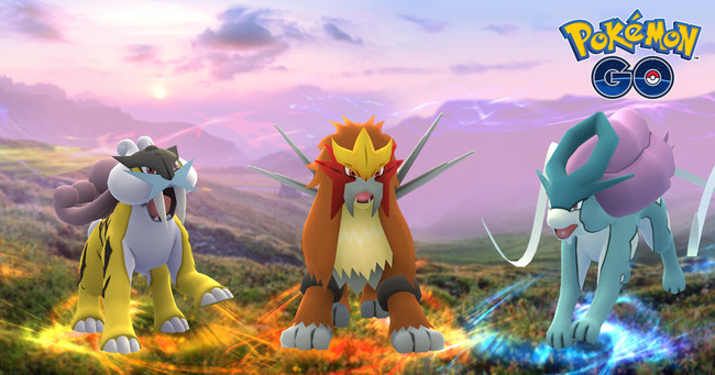 Pokemon Go Raikou Entei Suicune