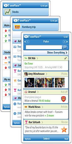 Yahoo! onePlace, gestor de marcadores online en el móvil