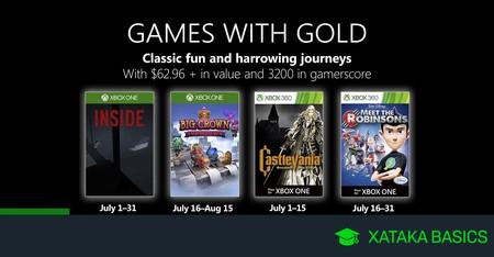 Juegos de Xbox Gold gratis para Xbox One y 360 de julio 2019
