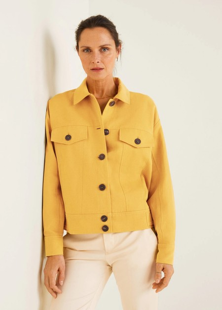 chaquetas lino mango