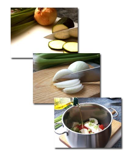zucchini al pomodoro pasos