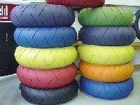 Neumáticos de colores