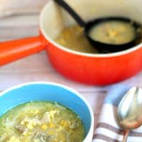 Receta de sopa de pollo con maiz y vermicelli al estilo chino