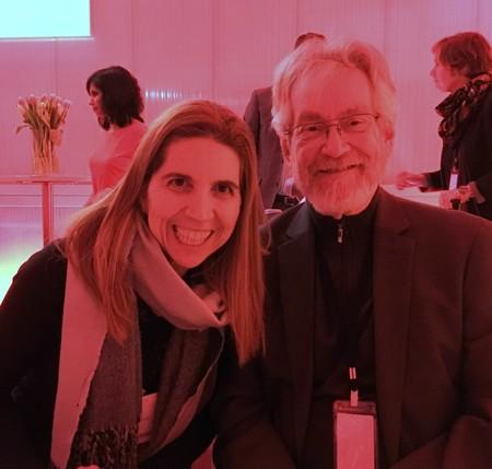 Nuria Oliver con Sandy Pentland en el Forod de Davos (2018)