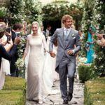 Y así de guapetes iban Pierre y Beatrice en su segunda boda