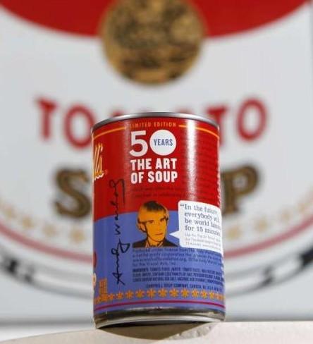 """""""The Art of Soup"""", Campbell dedicada a Andy Warhol una edición limitada de latas de su sopa de tomate"""