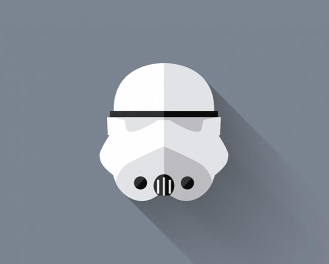 Foto de Original interpretación minimalista de los personajes de Star Wars por Filipe Carvalho (6/7)