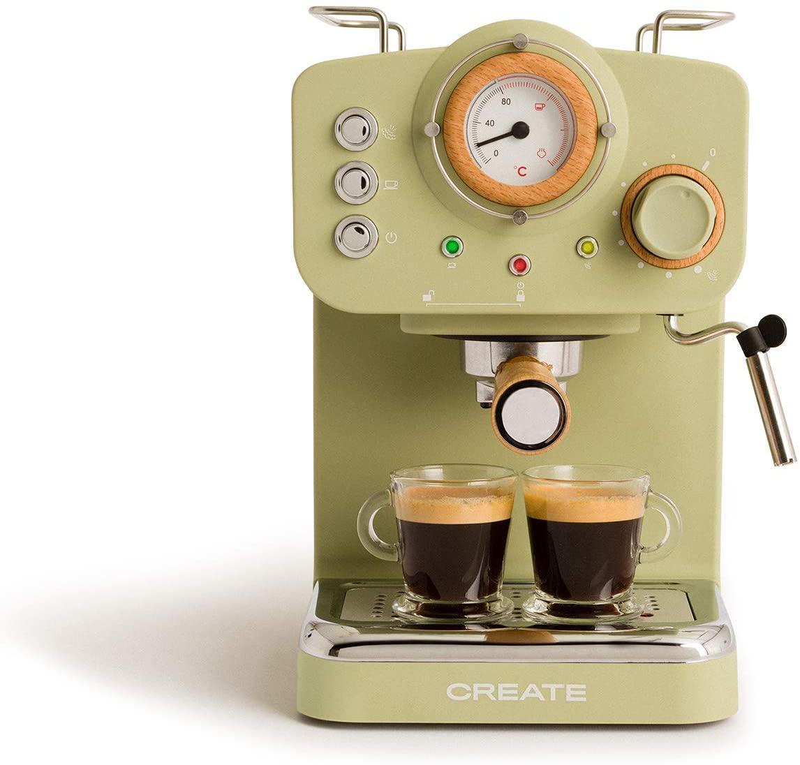 IKOHS THERA Retro - Cafetera Express para Espresso y Cappucino.