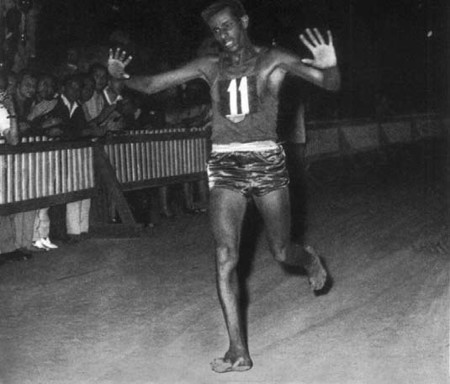 Abebe Bikila Maratona Olimpica Roma 1960