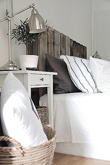 Recicladecoración: dos palés convertidos en cabecero de cama