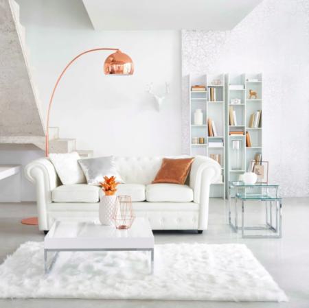 Sofa Blanco De Capitone Cherterfield