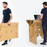 ¿Una mesa de cartón? ¿Para trabajar de pie? ¿¡Por 250 dólares!? Así es Refold