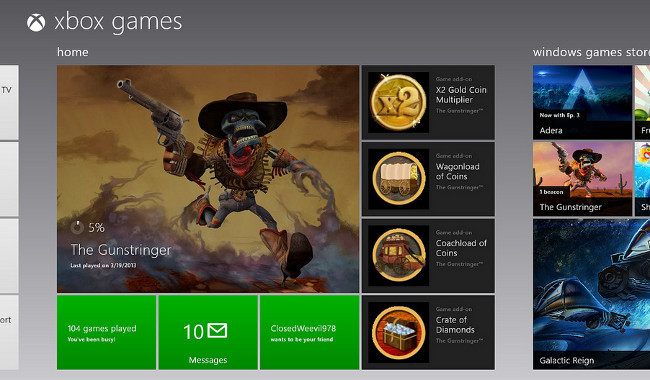 Xbox Games en Windows 8